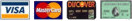 We Accept VISA MasterCard Discover AMEX